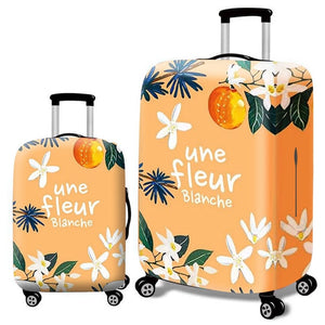 Fashion Elastic Suitcase Protective Cover - Beeredee Gardenia flower / S