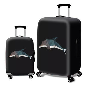 Fashion Elastic Suitcase Protective Cover - Beeredee Dolphin / S
