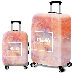 Fashion Elastic Suitcase Protective Cover - Beeredee Marble / S