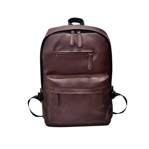 UNIQUE -  large capacity backpack in vegan leather - Beeredee Brown / delivered from China