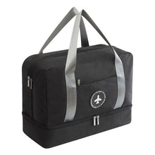Load image into Gallery viewer, Waterproof Storage Bag with Shoes compartment - Beeredee Black