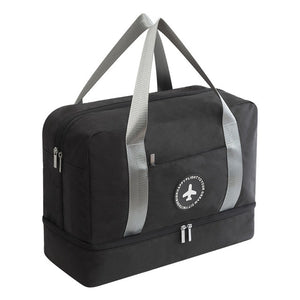 Waterproof Storage Bag with Shoes compartment - Beeredee Black