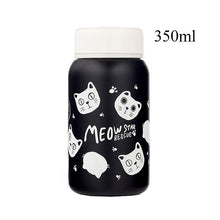 Load image into Gallery viewer, Stainless Steel Vacuum Flask cats - Beeredee 350ml Black Cats