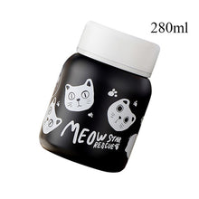 Load image into Gallery viewer, Stainless Steel Vacuum Flask cats - Beeredee 280ml Black Cats