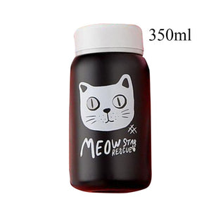 Stainless Steel Vacuum Flask cats - Beeredee 350ml Black Cat