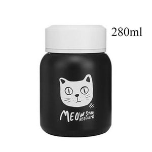 Stainless Steel Vacuum Flask cats - Beeredee 280ml Single Cat