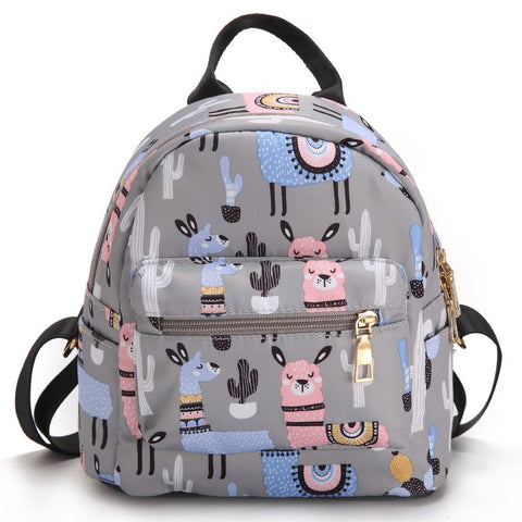 Canva - small nylon Backpack for kids - Beeredee Alpaca