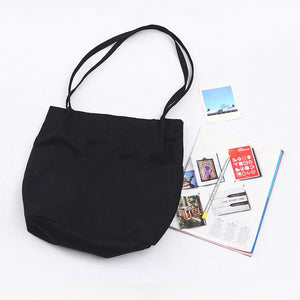 High quality cotton canvas Tote Bag - Beeredee Black
