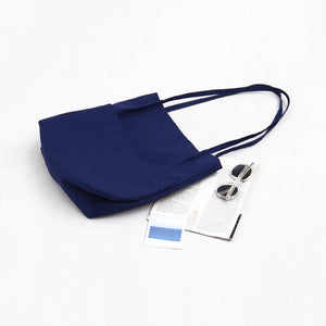High quality cotton canvas Tote Bag - Beeredee Blue