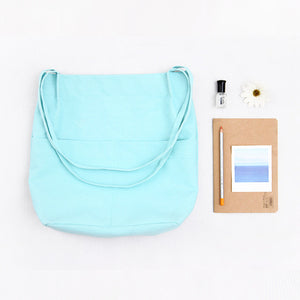 High quality cotton canvas Tote Bag - Beeredee Sky Blue