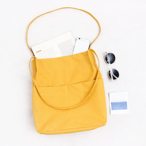 High quality cotton canvas Tote Bag - Beeredee Yellow