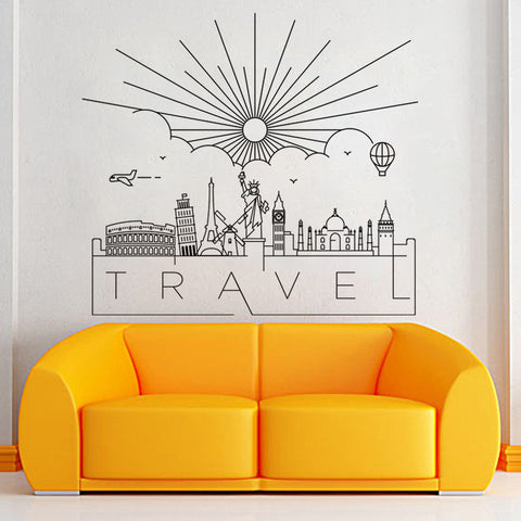 ''Travel location icons '' - Home Decoration  Wall Sticker Removable - Beeredee [variant_title]