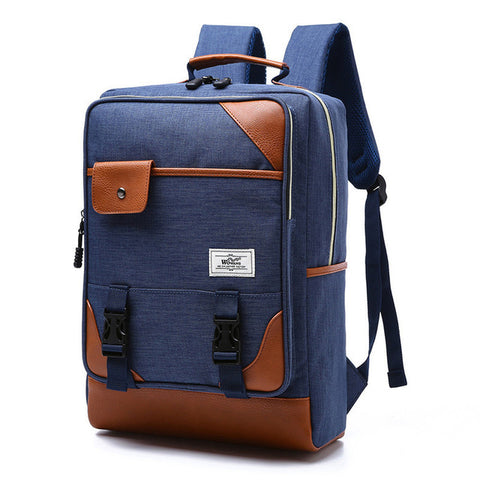 Vintage backpack - Beeredee blue