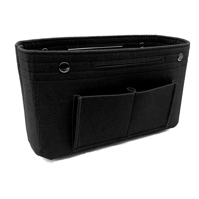 Multi-pockets storage organizer for handbag - Beeredee Black