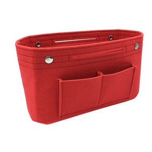 Multi-pockets storage organizer for handbag - Beeredee Red