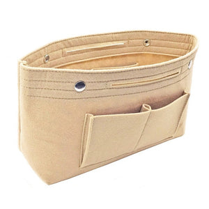 Multi-pockets storage organizer for handbag - Beeredee Khaki