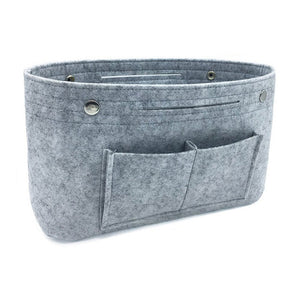 Multi-pockets storage organizer for handbag - Beeredee Light Grey