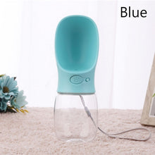Load image into Gallery viewer, Portable Pet Water Bottle - Beeredee Blue / 350ml