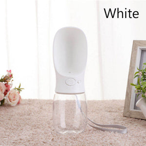 Portable Pet Water Bottle - Beeredee White / 350ml