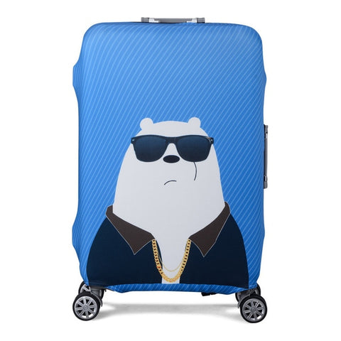 Bear Themed Elastic Luggage Protective Cover - Beeredee Cool Bear / S