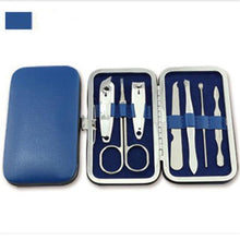 Load image into Gallery viewer, Manicure Pedicure Set Kit Nail Care Clipper Tool - Beeredee Blue