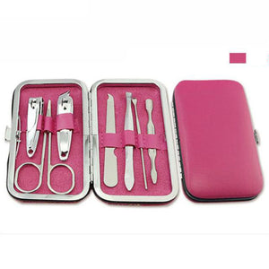Manicure Pedicure Set Kit Nail Care Clipper Tool - Beeredee Pink