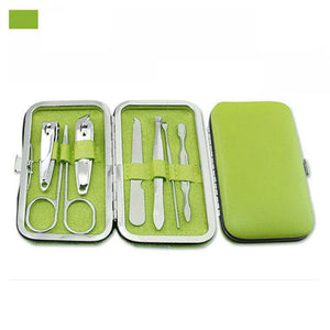 Manicure Pedicure Set Kit Nail Care Clipper Tool - Beeredee Green