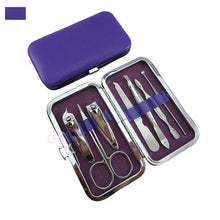 Load image into Gallery viewer, Manicure Pedicure Set Kit Nail Care Clipper Tool - Beeredee Purple