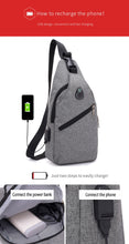 Load image into Gallery viewer, Canvas Shoulder Bag - with usb charger - Beeredee [variant_title]