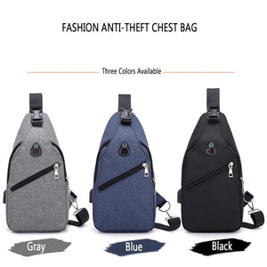 Canvas Shoulder Bag - with usb charger - Beeredee [variant_title]