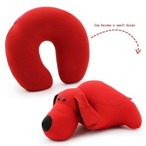 Animal Shape Travel Pillow - Beeredee Red puppy