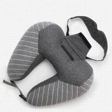 Load image into Gallery viewer, Travel Set - (neck pillow + blinder) - Beeredee Black / 30x30cm