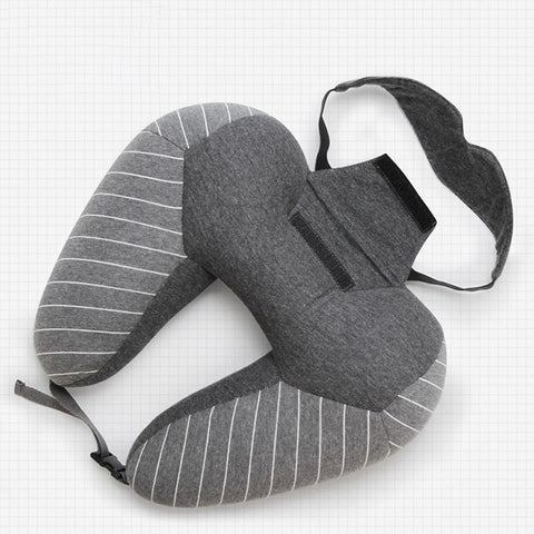 Travel Set - (neck pillow + blinder) - Beeredee Black / 30x30cm