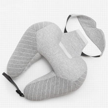 Load image into Gallery viewer, Travel Set - (neck pillow + blinder) - Beeredee Gray / 30x30cm