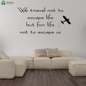 Travelling Quotes Vinyl Wall Stickers - Air Plane - Beeredee [variant_title]
