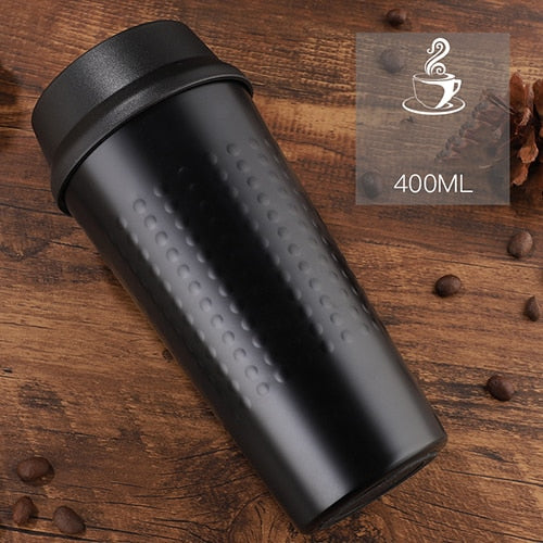 KLIK - Double Wall Stainless Steel Vacuum Flasks 400 ml - Beeredee 400ML / Black