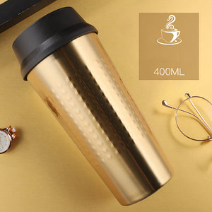 KLIK - Double Wall Stainless Steel Vacuum Flasks 400 ml - Beeredee 400ML / Gold
