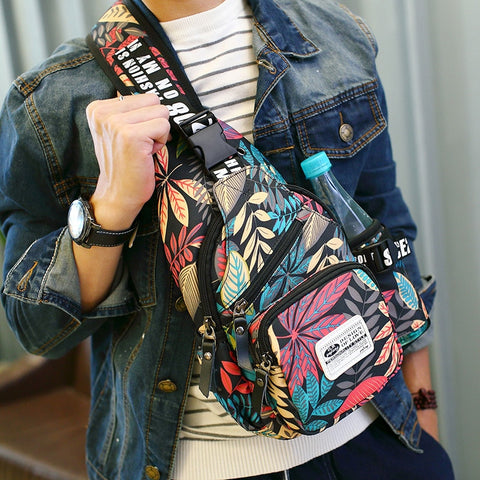 Casual Messenger Bag Floral Pattern - Beeredee [variant_title]