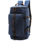 Dakar - Canvas Large Capacity Backpack - Beeredee BLUE-SMALL