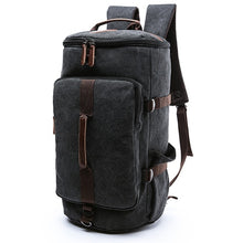 Load image into Gallery viewer, Dakar - Canvas Large Capacity Backpack - Beeredee BLACK-SMALL