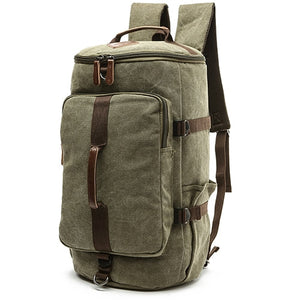 Dakar - Canvas Large Capacity Backpack - Beeredee ARMY GREEN-SMALL