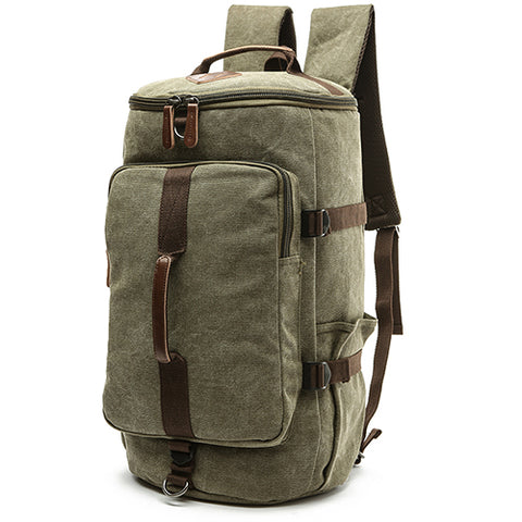 Dakar - Canvas Large Capacity Backpack - Beeredee ARMY GREEN-BIG