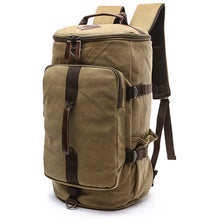 Load image into Gallery viewer, Dakar - Canvas Large Capacity Backpack - Beeredee KHAKI-BIG