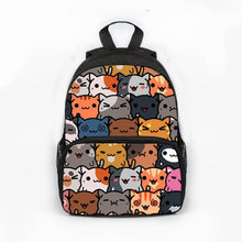 Load image into Gallery viewer, Aoshima -  Kawaii Cat  Backpack - Beeredee Different cats / 13 Inches