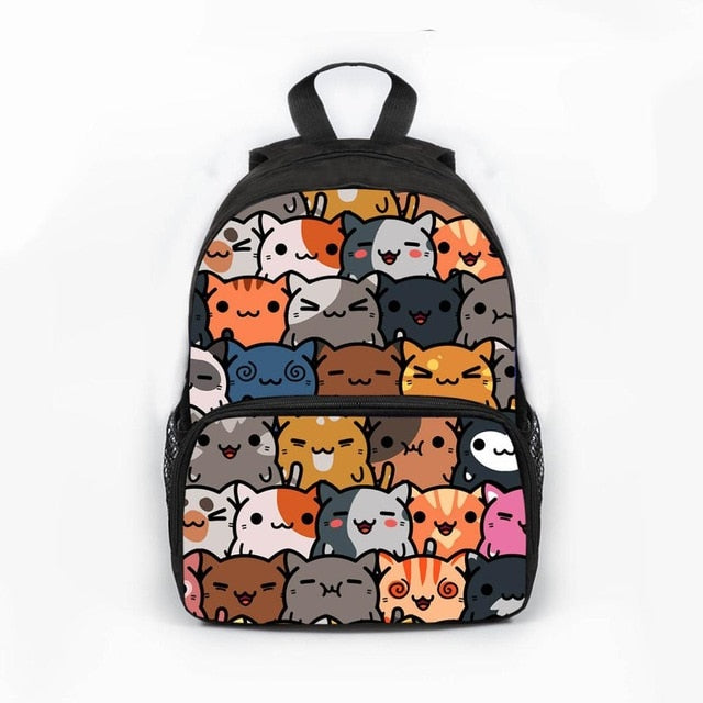 Aoshima -  Kawaii Cat  Backpack - Beeredee Different cats / 13 Inches