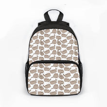 Load image into Gallery viewer, Aoshima -  Kawaii Cat  Backpack - Beeredee Pusheen white background / 13 Inches