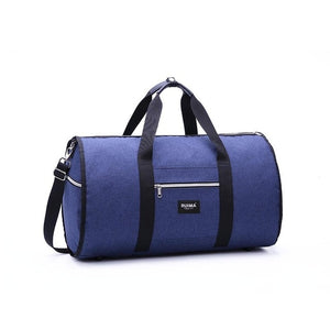Milano - Foldable Waterproof duffle bag for business travel - Beeredee Blue