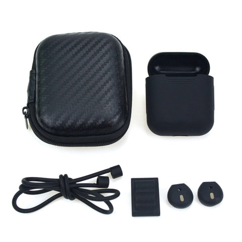 Earphone Bag 5 in 1 Storage Box For AirPods - Beeredee black