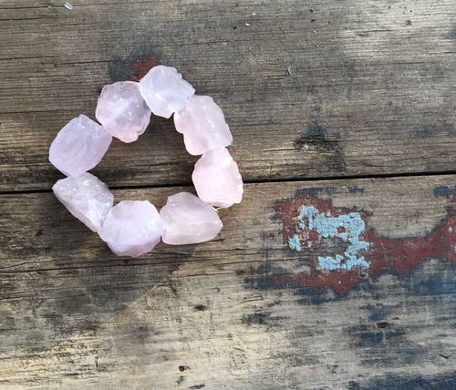 RAW The Rose Quartz Bracelet