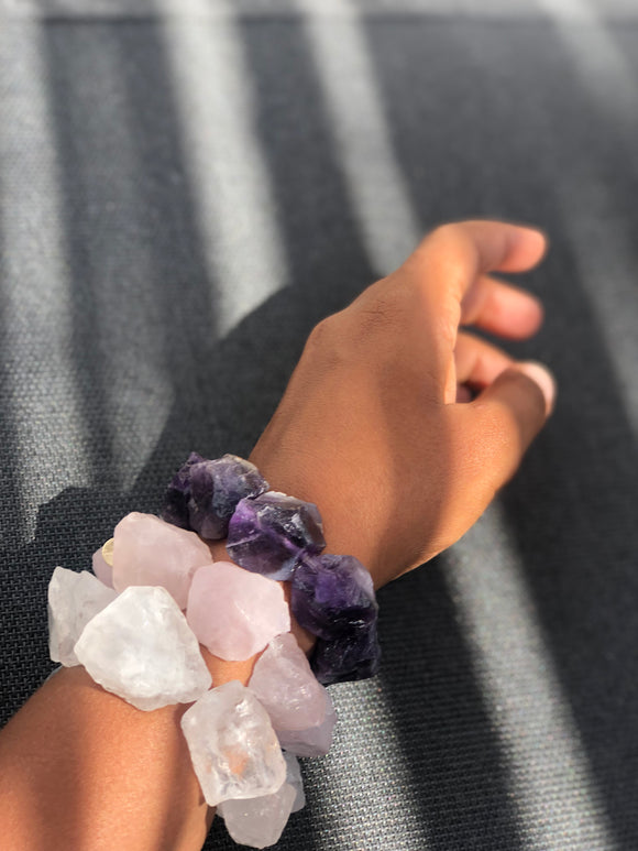 RAW The Clear Quartz Bracelet